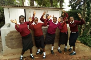 The Water Project: Essong'olo Secondary School -  Celebration In Front Of Girls Latrines