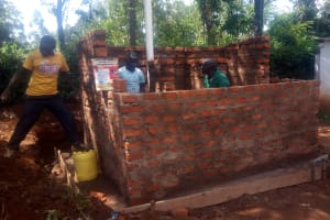 The Water Project: Essong'olo Secondary School -  Latrines Nearly Complete