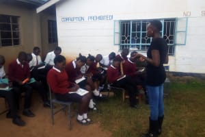 The Water Project: Essong'olo Secondary School -  Students Listen During Training