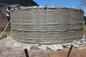 The Water Project: Musabale Primary School -  Cement For New Tank Dries