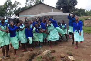 The Water Project: Musabale Primary School -  Excited To Be In Front Of New Tank