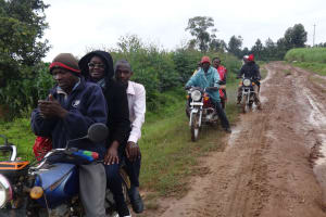 The Water Project: Musabale Primary School -  Poor Roads And Rains Didnt Stop Us From Conducting Trainings