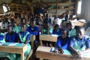 The Water Project: Musabale Primary School -  Students Actively Listen And Participate