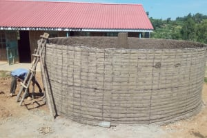The Water Project: Kenneth Marende Primary School -  Cement For Tank Walls Dries