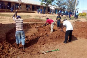 The Water Project: Kenneth Marende Primary School -  Clearing Ground For Tank
