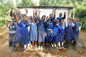 The Water Project: Kenneth Marende Primary School -  Girls At Their New Latrines