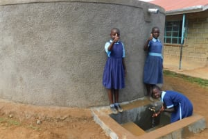 The Water Project: Kenneth Marende Primary School -  Girls Collecting Water