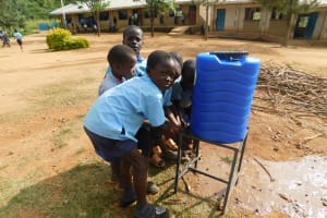 The Water Project: Kenneth Marende Primary School -  New Handwashing Station