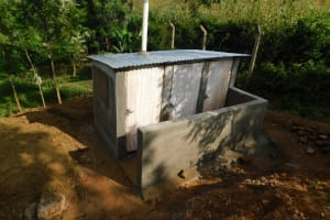The Water Project: Kenneth Marende Primary School -  New Latrine