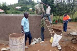The Water Project: Kenneth Marende Primary School -  Tank Interior Under Construction