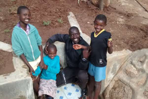 The Water Project: Chandolo Community, Joseph Ingara Spring -  All Smiles For Safe Water