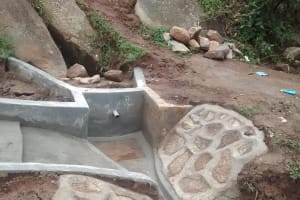 The Water Project: Chandolo Community, Joseph Ingara Spring -  Concrete Drying At Nearly Completed Spring