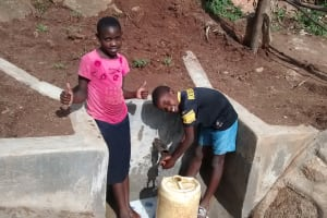 The Water Project: Chandolo Community, Joseph Ingara Spring -  Thumbs Up