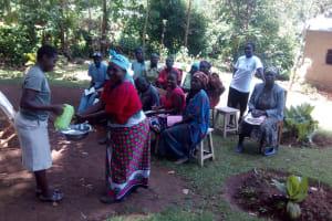 The Water Project: Wasenje Community, Margaret Jumba Spring -  Handwashing Training