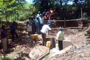 The Water Project: Wasenje Community, Margaret Jumba Spring -  Learning About Care For Newly Protected Spring