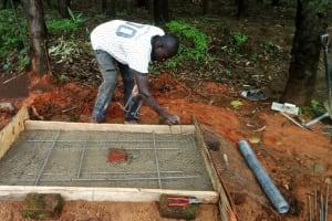 The Water Project: Wasenje Community, Margaret Jumba Spring -  Preparing New Latrine Platform