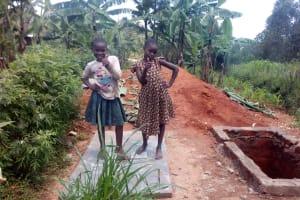 The Water Project: Wasenje Community, Margaret Jumba Spring -  Strike A Pose On New Latrine Platform