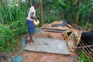 The Water Project: Shiru Community, Sammy Alumola Spring -  Cleaning New Latrine Platform