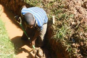 The Water Project: Shiru Community, Sammy Alumola Spring -  Digging At New Spring