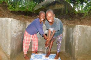 The Water Project: Shiru Community, Sammy Alumola Spring -  Water Flowing