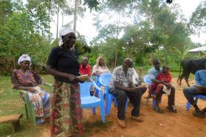 The Water Project: Jivovoli Community, Wamunala Spring -  Community Members Participate In Training