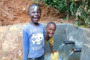 The Water Project: Jivovoli Community, Wamunala Spring -  Excited For Clean Water