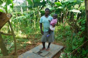 The Water Project: Jivovoli Community, Wamunala Spring -  New Latrine Platform