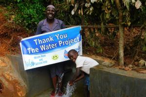 The Water Project: Jivovoli Community, Wamunala Spring -  Thank You