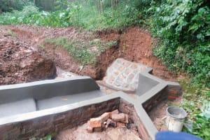 The Water Project: Jivovoli Community, Wamunala Spring -  Spring Protection Nearly Done