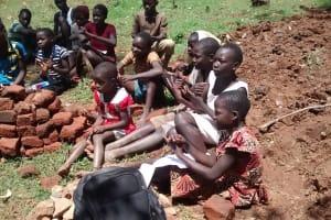 The Water Project: Jivovoli Community, Gideon Asonga Spring -  Children Listenining During Training