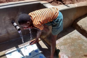 The Water Project: Jivovoli Community, Gideon Asonga Spring -  Drinking Safe Water