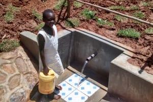 The Water Project: Jivovoli Community, Gideon Asonga Spring -  Posing At The Spring