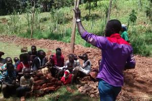 The Water Project: Jivovoli Community, Gideon Asonga Spring -  Trainer In Action