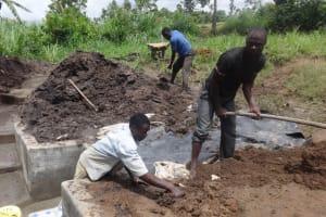 The Water Project: Ingavira Community, Laban Mwanzo Spring -  Preparing Ground Around Spring