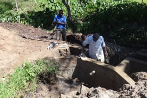 The Water Project: Ingavira Community, Laban Mwanzo Spring -  Protecting The Spring