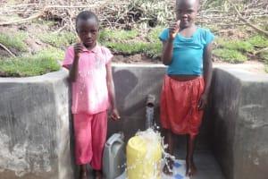 The Water Project: Ingavira Community, Laban Mwanzo Spring -  Thumbs Up