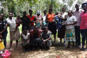 The Water Project: Masera Community, Ernest Mumbo Spring -  Community Members Pose After Training