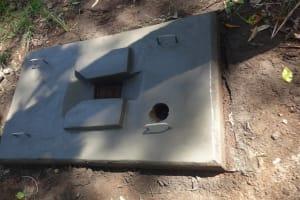 The Water Project: Masera Community, Ernest Mumbo Spring -  Sanitation Platform Dries