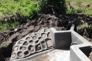 The Water Project: Masera Community, Ernest Mumbo Spring -  Spring Protection Nearly Complete