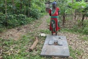The Water Project: Masera Community, Salim Hassan Spring -  New Sanitation Platform