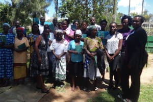 The Water Project: Masera Community, Salim Hassan Spring -  Training Attendees