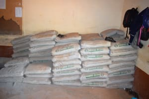 The Water Project: Mbuuni Secondary School -  Cement For Tank Construction
