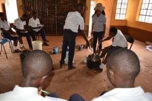 The Water Project: Mbuuni Secondary School -  Learning To Make Soap