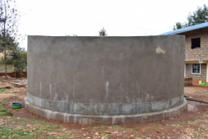 The Water Project: Mbuuni Secondary School -  Nearly Completed Tank
