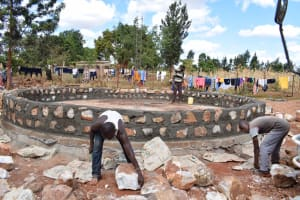 The Water Project: Mbuuni Secondary School -  Tank Construction Underway