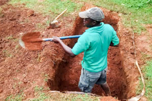 The Water Project: Mulwakhi Secondary School -  Digging A Pit For The Latrines
