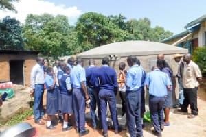 The Water Project: Samson Mmaitsi Secondary School -  Tank Training