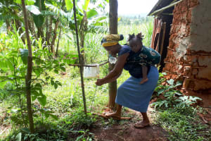 The Water Project: Mbande Community, Handa Spring -  Newly Built Handwahsing Station