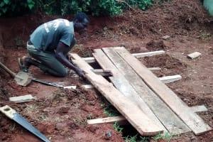 The Water Project: Mulwakhi Secondary School -  Latrine Construction