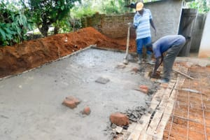 The Water Project: Erusui Secondary School -  Latrine Construction